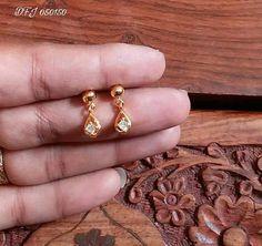 Trendy Jewerly Making Indian Etsy 69 Ideas Gold Jhumka Earrings, Jewelry Design Earrings, Gold Earrings Designs, Small Earrings, Baby Earrings, Earings Gold, Gold Necklace, Kids Earrings, Gold Designs