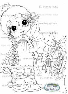 Linda boneca de natal