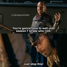 Lucille me instead of whoever died especially if it's Glenn