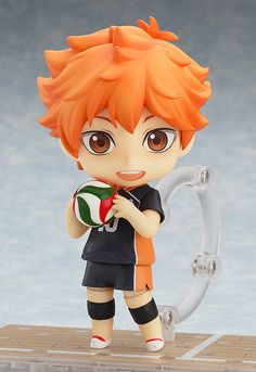 """Haikyu!! - Shoyo Hinata Nendoroid NEED. Also """"best basketball player on the court""""? Dude, he plays volleyball -_- Someone did not read the manga, nor did they watch the anime"""