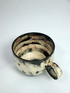 Large Wheel-Thrown Earthenware coffee or  tea cup  by AtwaterCeramics    Olia Lamar