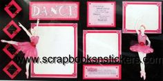 Image detail for -ballet scrapbook page kit sku ciuballet color various material paper ...