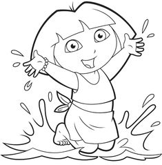 teenage dora coloring pages-#7