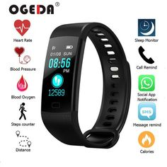 Sanda 2019 New Womens Watch F1 Smart Bracelet Heart Rate Blood Pressure Blood Oxygen Sports Step Swomen Mart Watch Ladies Watch Spare No Cost At Any Cost Back To Search Resultswatches