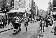 A photo taken on Carnaby Street near Regents Street and Oxford Street Central London England in the 1960s