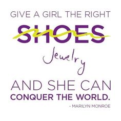 and jewellery is more comfortable than heels.