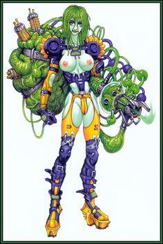 Dragon Stomach Character Art, Character Design, Sci Fi Anime, Sci Fi Comics, Creature Concept, Medium Art, Traditional Art, Female Characters, Concept Art