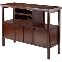 Free Shipping. Buy Winsome Diego Buffet Cabinet Side Board, Walnut at Walmart.com