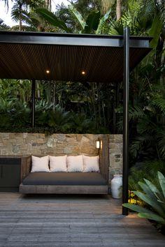 We design and construct pools and gardens. We project manage landscape contruction teams. Tropical Pool Landscaping, Tropical Garden Design, Backyard Garden Design, Outdoor Landscaping, Outdoor Rooms, Outdoor Living, Outdoor Decor, Saint Claude, Australian Garden Design