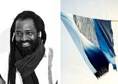 Aboubakar Fofana has found art in the ancient tradition of indigo dyeing. See his masterful work and read his story on DARA Artisans. Found Art, Indigo Dye, Shibori, Textile Art, Hand Weaving, Artisan, Blue, Fabrics, Stripes
