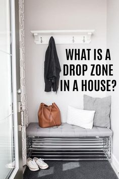 What is a Drop Zone in a House, and why do you need one? Includes drop zone design ideas and a creation checklist.