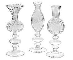 Set de 3 jarrones en vidrio – transparente I