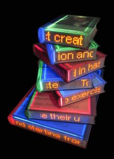 Luminous Words: Glowing Books by Airan Kang | Inspiration Grid | Design Inspiration