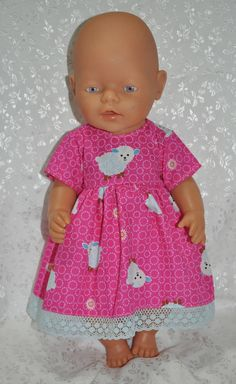 "Dolls Clothes for 17"" Baby Born Doll ~ Reborn Dolls ~ Pink Dress and Knickers"