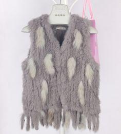 Vail Genuine Rabbit Fur Fringe Vest