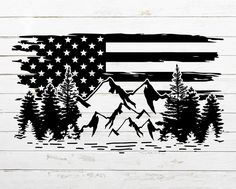 Mountain Silhouette, Forest Silhouette, Silhouette Cameo, Vinyl Craft Projects, Patriotic Pictures, Tree Svg, Mountain Tattoo, Cricut Creations, Nature Scenes