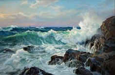 """Wind of the Sea"" 24"" x 36"" Oil on Canvas                              …"