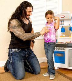 Roman Reigns with his daughter Joelle 'JoJo'