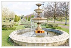 Springtime in Regent's Park, London. Tourism London, Regents Park London, London Street, Spring Time, Fountain, Outdoor Decor, Flowers, Water Fountains, Royal Icing Flowers