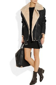 ACNE  Velocite oversized shearling aviator jacket