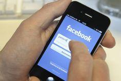 facebook on smartphone, nice.