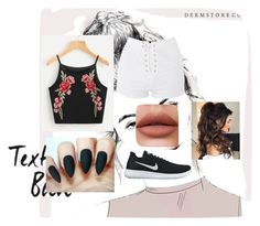 """back to school #Queen"" by charltontk ❤ liked on Polyvore featuring Topshop and NIKE"