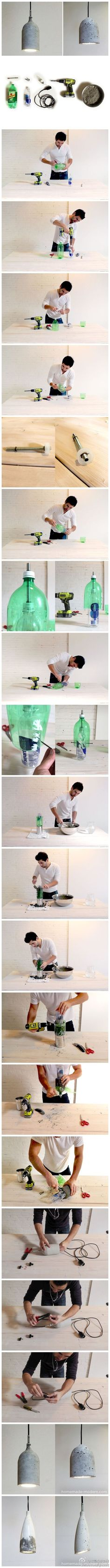 concrete light lamp - tutorial lampada in cemento