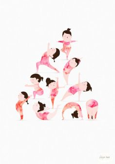 Yoga by The Lily X illustration