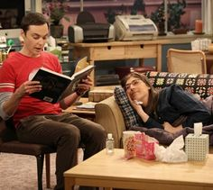 Sheldon reads to Amy