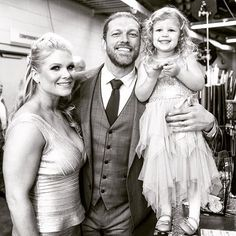 Beth Phoenix, Edge, and daughter Lyric at WWE Hall of Fame