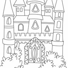 Disney Luxury Castle Coloring Pages For Kids 0W