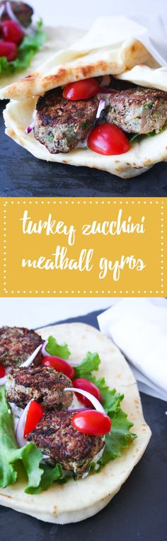 Ottolenghi's Turkey Zucchini Meatball Gyros with Tzatziki | Hungry by Nature