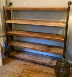 New creation! Amazing rustic industrial bookshelf!! Available at the iron gate cottage!!!