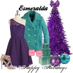 """Esmeralda Happy Holidays"" by amarie104 on Polyvore"