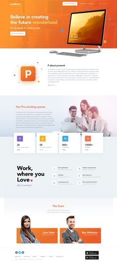 Proworking Space - Landing page
