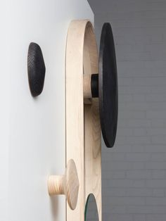 Duo is a minimalist design created by England-based designer Tom Robinson. The Duo range provides archetypal and sustainable forms of indoor air purification. The product range consists of a wall mounted mirror and a pair of wall hooks, crafted from activated charcoal and natural ash. (4)