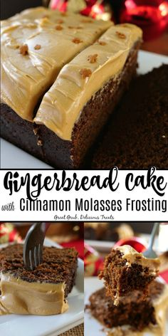 Gingerbread with Cinnamon Molasses Frosting is a scrumptiously moist gingerbread cake recipe that tastes amazing with a delicious cinnamon molasses frosting. Holiday Baking, Christmas Desserts, Christmas Baking, Christmas Parties, Christmas Treats, Christmas Cakes, Holiday Cakes, Easy Desserts, Delicious Desserts