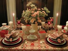 ~Tablescapes By Diane~: ~~~Re' Post My Valentine's Day Tablescapes~~~