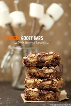 Campfire Gooey Bars With TWIX Bites {Father's Day Treats} #EatMoreBites #shop