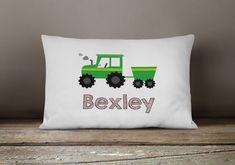 Tractor Pillow Personalized Tractor Pillow Case Boys