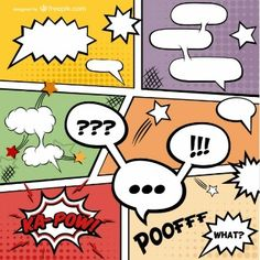 Comic Book page vector free download