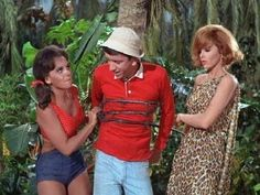 Gilligan's Island. Here's Gilligan, Ginger Grant and Mary Ann Summers.