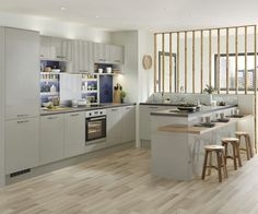 Greenwich Gloss Grey All images © Howden Joinery Limited