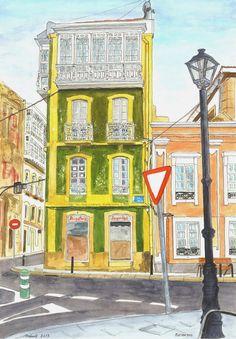 Urban Sketchers Spain. El mundo dibujo a dibujo.: Betanzos (III) Otoño para disfrutar Drawing Sketches, Drawings, Sketching, Happy Little Trees, Urban Sketchers, Sketchbook Inspiration, Vincent Van Gogh, Landscape Art, Spain