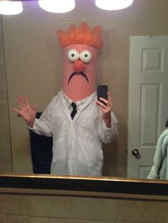 Hand-made Halloween Costume (beaker from the muppets!) - Imgur