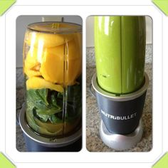 SPANGO!!! Mangoes, Spinach & Organic Apple Juice!! #NutriBlast #NutriBullet