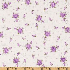 Floral Eyelet Lilac from @fabricdotcom  You will fall in love with this light weight embroidered eyelet fabric.  It is perfect for flirty summer dresses, blouses, skirts, bathing suit cover ups and children's apparel.   Flowers are screenprinted on fabric.