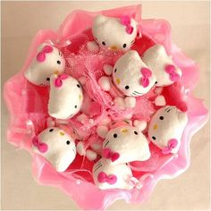 uhello kitty love forevver | Forever Love Flower Bouquet of Dolls, 9 Hello Kitty from Youyouhuayu