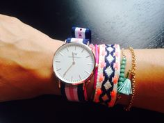 Daniel Wellington watch with festival accesories (Bershka, Stradivarius)