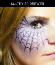 Halloween How-To: Sultry Spiderweb Makeup